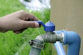 Water faucet handles. — Stock Photo