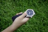 看着草坪titta på gräsmattan. — Stockfoto