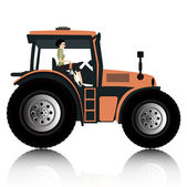 Tractor — Vetorial Stock