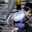 Children on cart. — 图库照片 #32333707