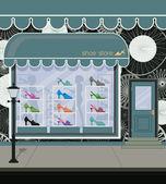 Shoe store — Stock Vector