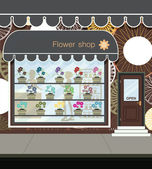 Flower shop. — Vector de stock