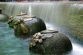 Garden water falls. — Stock Photo