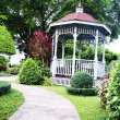 Pavilion in the garden — Stock Photo
