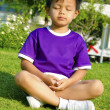 Children and meditation — Stock Photo #39059601
