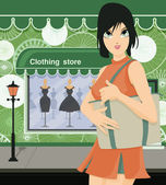 Clothing store — Stockvector