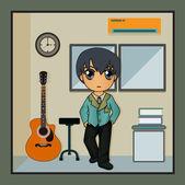 Musikrummet — Stockvektor