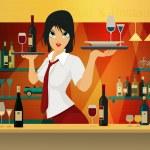 Female bartender. — Stock Vector #47294909