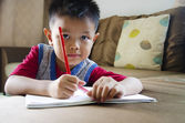 Kids are writing — Stock Photo