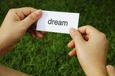 Label dream — Foto Stock
