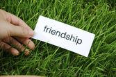 Label friendship — Foto Stock
