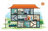 Home interior — Stock Vector