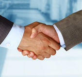Two businessman shaking hands — Stock Photo