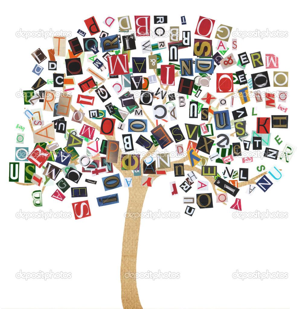 Abstrait arbre avec lettres photographie tsyhund 12388278 - Arbre africain en 7 lettres ...