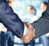 Business-handshake und business — Stockfoto