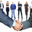 Stock Photo: Business handshake and business