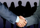 Hand shake business concept — Stockfoto