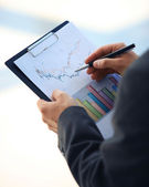 Stock market graphs monitoring — Stock Photo