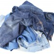 Set of jeans isolated on white background — Stock Photo