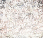 Designed background. Collage made of newspaper clippings. — Stock Photo