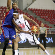 Basketball match between PAOK and PANIONIOS, Thessaloniki Greece - Stock Photo