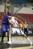 Basketball match between PAOK and PANIONIOS, Thessaloniki Greece — Stock Photo