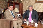Karatzaferis and Psomiadis in a meeting — Stock Photo
