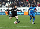 Football match between PAOK F.C. and KAVALA F.C. — Stock Photo