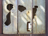 Old window frame — Stock Photo