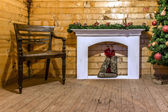 House interior on christmas — Stock Photo