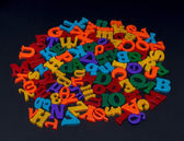 Letters of toy alphabet — Stock Photo