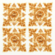 Golden Flower Pattern of Damask Seamless — Stock Photo