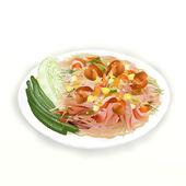 Thai Style Papaya Salad — Stock Photo