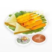 Pork Satay & Chicken Satay — Stock Photo