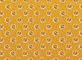 Golden Flower Pattern with Yellow Background Textures — Stock Photo