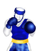 Boxing : Boxer Standing in Ring Ready to Fight — Stock Photo