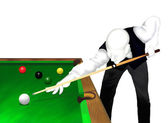 Snooker : Snooker Player Potting Balls on A Green — Stock Photo
