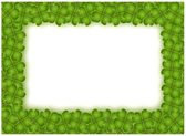 A Four Leaf Clover Frame with Copy Space — Stock Photo