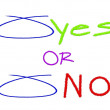 Choice Circled with Yes and No Options — Stock Photo