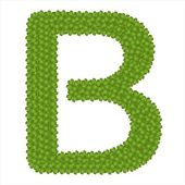 Dört yapraklı yonca alfabe harf b — Stok fotoğraf