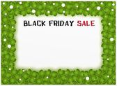 Black Friday of Four Leaf Clover Background — Stock Photo