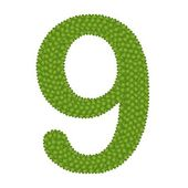 Four Leaf Clover of Alphabet Numbers 9 — Stock Photo