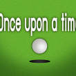 Stock Photo: Once Upon A Time Putted Golfball Dropping into The Cup