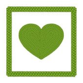 Four Leaf Clover of Heart Shape Icon in A Frame — Stock Photo