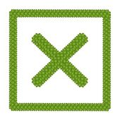 Four Leaf Clover of Check No Sign in Circle Frame — Foto de Stock