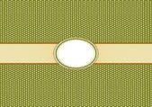 Round Label Pattern with A Olive Green Background — ストック写真