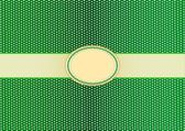 Round Label Pattern with A Green Background — Stock fotografie