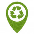 Stock Photo: Four Leaf Clover of Recycle Icon in Navication Icon