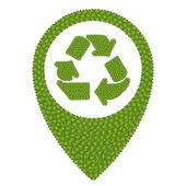 Four Leaf Clover of Recycle Icon in Navication Icon — Stock Photo
