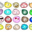 An Illustration of Different Variations Emotion Icons — Stock Vector